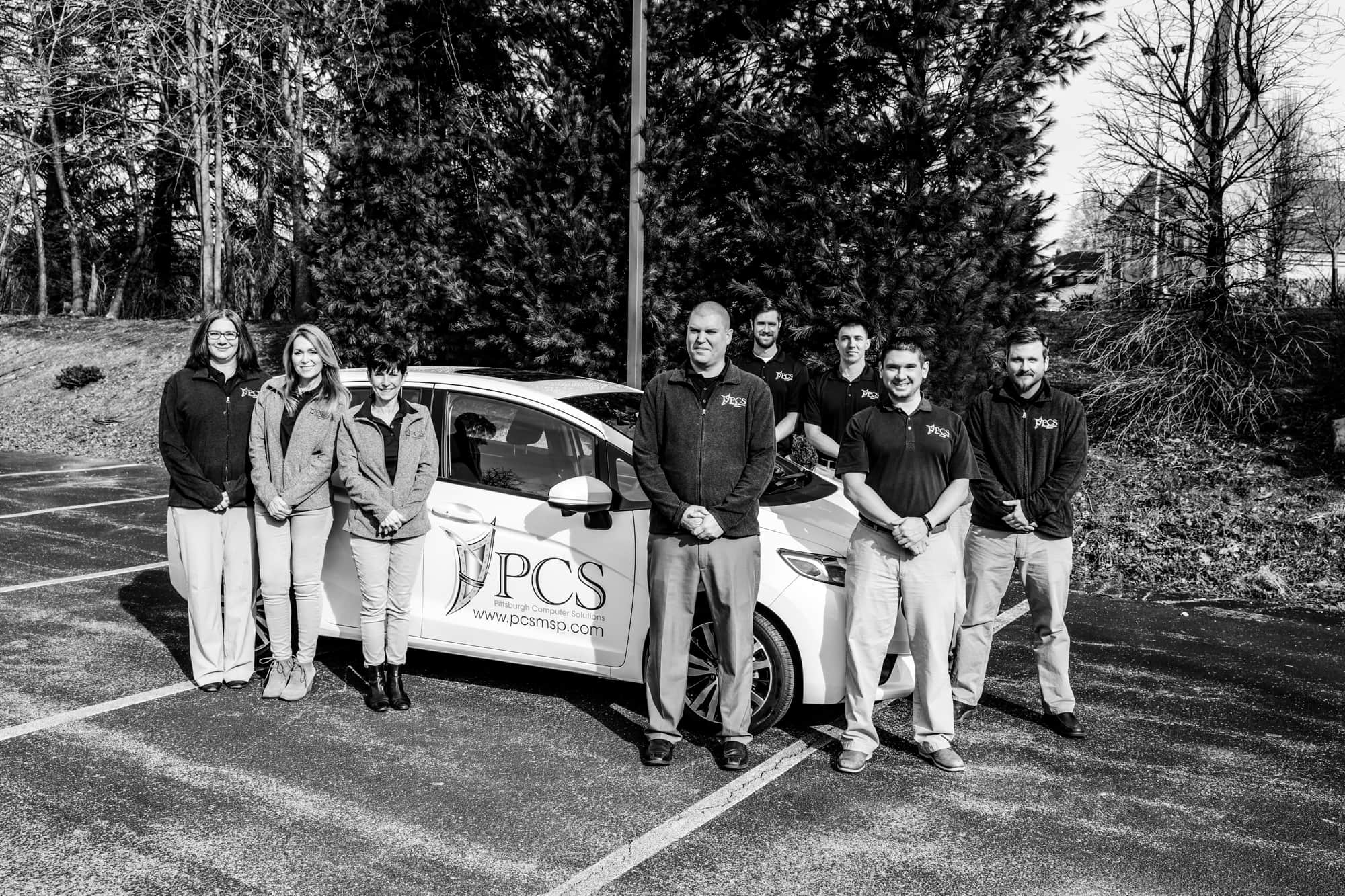 PCS Team with PCS Car